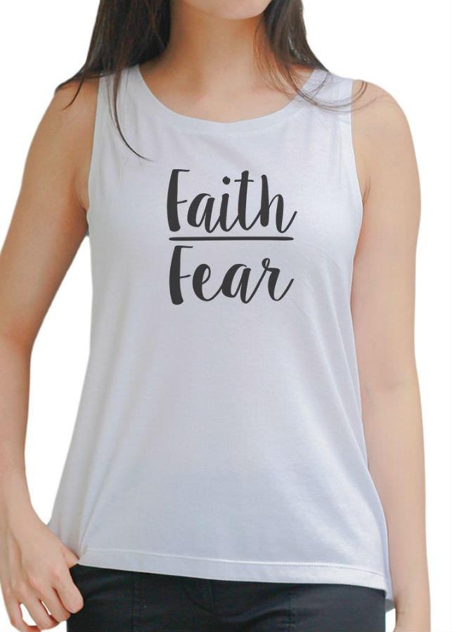 Áo Tanktop Nữ Faith Fear 3 - Trắng