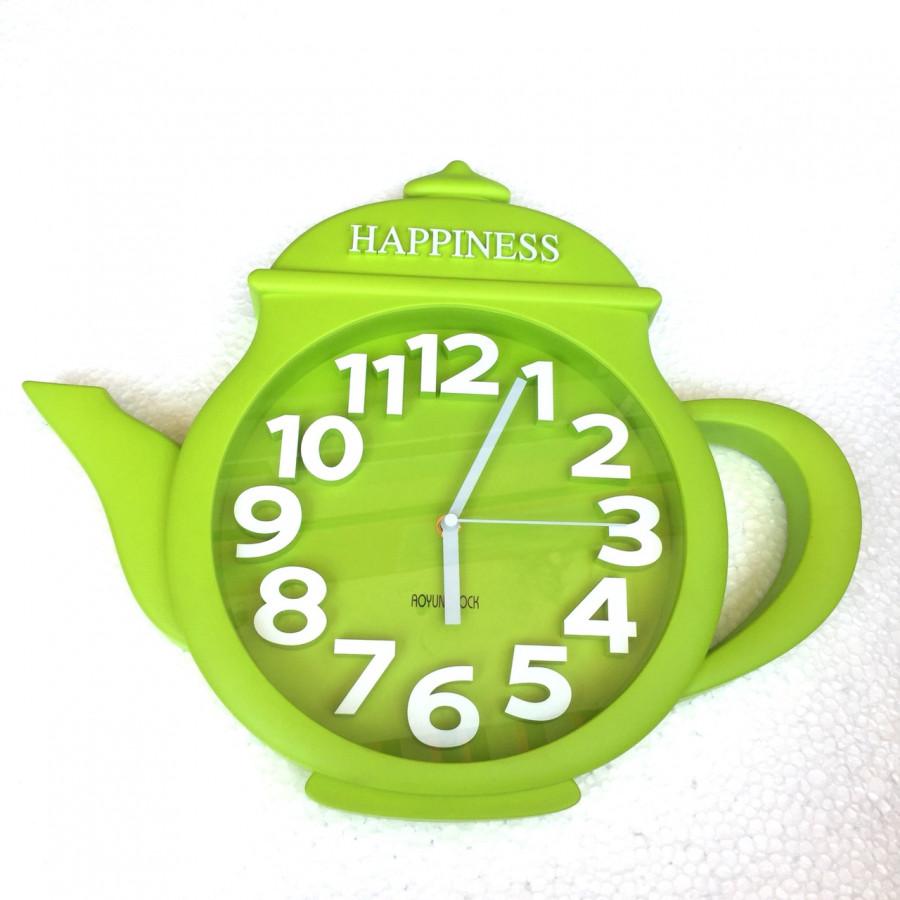 Đồng hồ treo tường hình ấm trà - Giao màu ngẫu nhiên