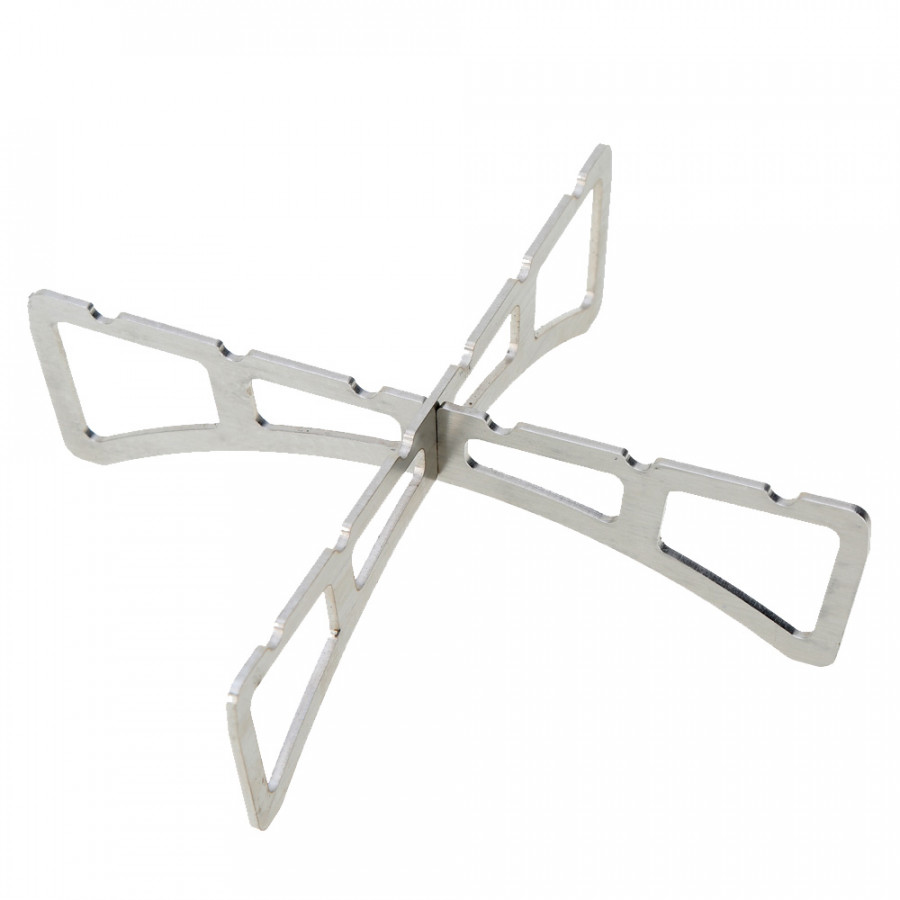 Stove Accessories Stainless Steel Camping Steaming Stand Outdoor Stove Stand - Silver