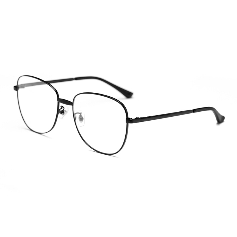 Wood ninety men and women with the same paragraph black metal frame fashion glasses frame FM1600053 C01 56mm
