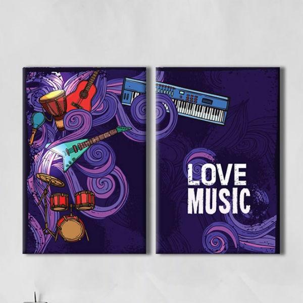 """Bộ 2 Tranh Ép Gỗ MDF Treo Tường Trang Trí Quán Cà Phê """"I Love Music"""" W166 - 20096052 , 1016526072451 , 62_6399945 , 676000 , Bo-2-Tranh-Ep-Go-MDF-Treo-Tuong-Trang-Tri-Quan-Ca-Phe-I-Love-Music-W166-62_6399945 , tiki.vn , Bộ 2 Tranh Ép Gỗ MDF Treo Tường Trang Trí Quán Cà Phê """"I Love Music"""" W166"""