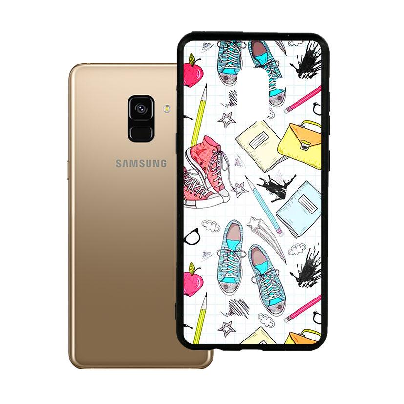 Ốp lưng viền TPU cao cấp dành cho Samsung A8 2018 Plus - Student Paint