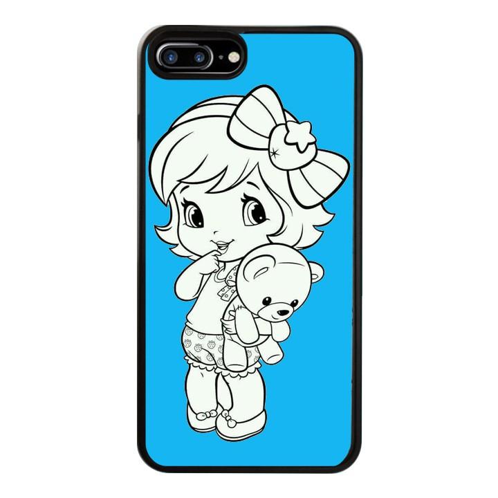 Ốp Lưng Kính Cường Lực Dành Cho Điện Thoại iPhone 7 Plus / 8 Plus Baby Strawberry Mẫu 1