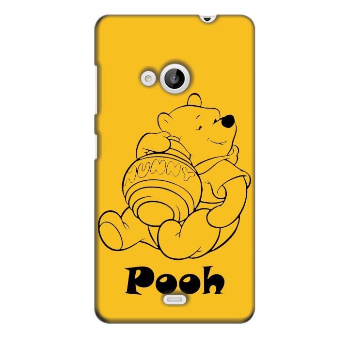 Ốp lưng nhựa cứng nhám dành cho Nokia Lumia 535 in hình Pooh
