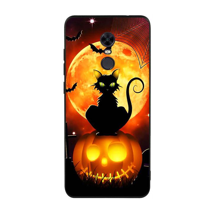 Ốp lưng Halloween viền TPU cho điện thoại Xiaomi Redmi 5 Plus - Mẫu 05