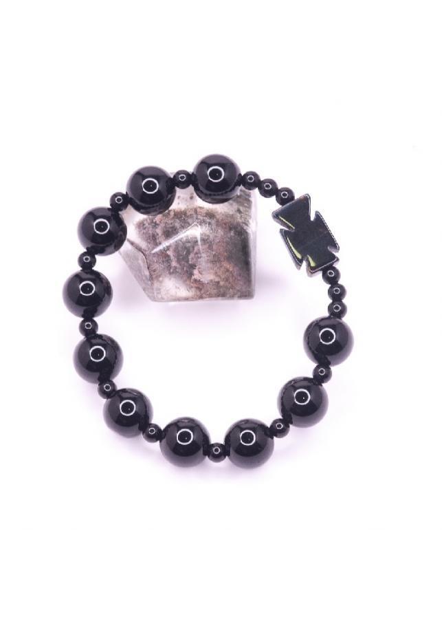 Vòng tay đá Obsidian 10mm mix Thánh giá BRBO10M01 - Vietgemstones
