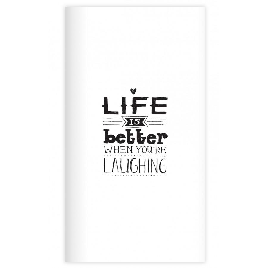 Sổ tay planner Bìa laughing  kích thước 21x11 60 trang bìa cứng in hình bullet journal, nhật ký, todo list, checklist