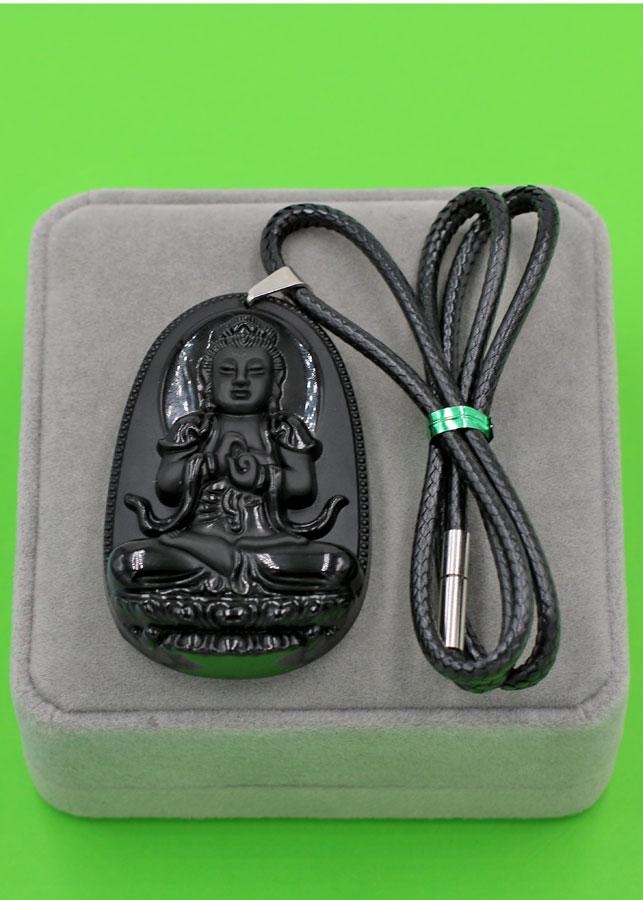Vòng cổ Đại nhật như lai thạch anh đen 6 cm DETES5 - Phật bản mệnh tuổi Mùi, Thân - Đem lại bình an, may mắn và...