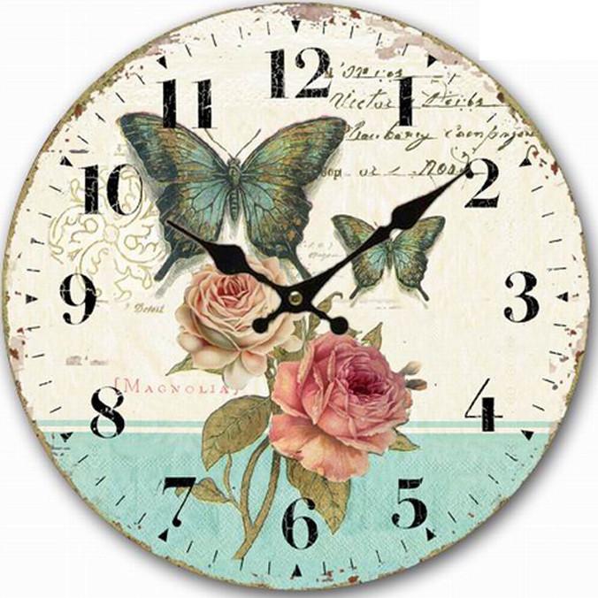 Đồng hồ treo tường Vintage Phong cách Châu Âu size to 30cm DH20 hoa hồng và bướm xanh - 4832542 , 3989341086539 , 62_15591468 , 400000 , Dong-ho-treo-tuong-Vintage-Phong-cach-Chau-Au-size-to-30cm-DH20-hoa-hong-va-buom-xanh-62_15591468 , tiki.vn , Đồng hồ treo tường Vintage Phong cách Châu Âu size to 30cm DH20 hoa hồng và bướm xanh