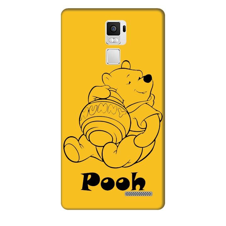 Ốp lưng nhựa cứng nhám dành cho Oppo R7 Plus in hình Pooh