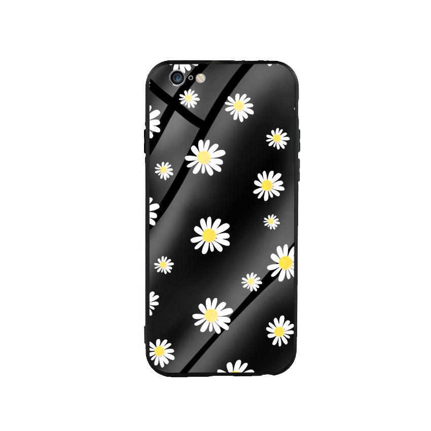Ốp Lưng Kính Cường Lực cho điện thoại Iphone 6 Plus / 6s Plus - Cúc Họa Mi 01 - Hàng Chính Hãng