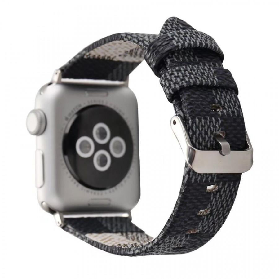 Dây da đeo thay thế cho Apple Watch 38mm / 40mm Kakapi vân LV (ngàm nối màu ngẫu nhiên) - Hàng chính hãng