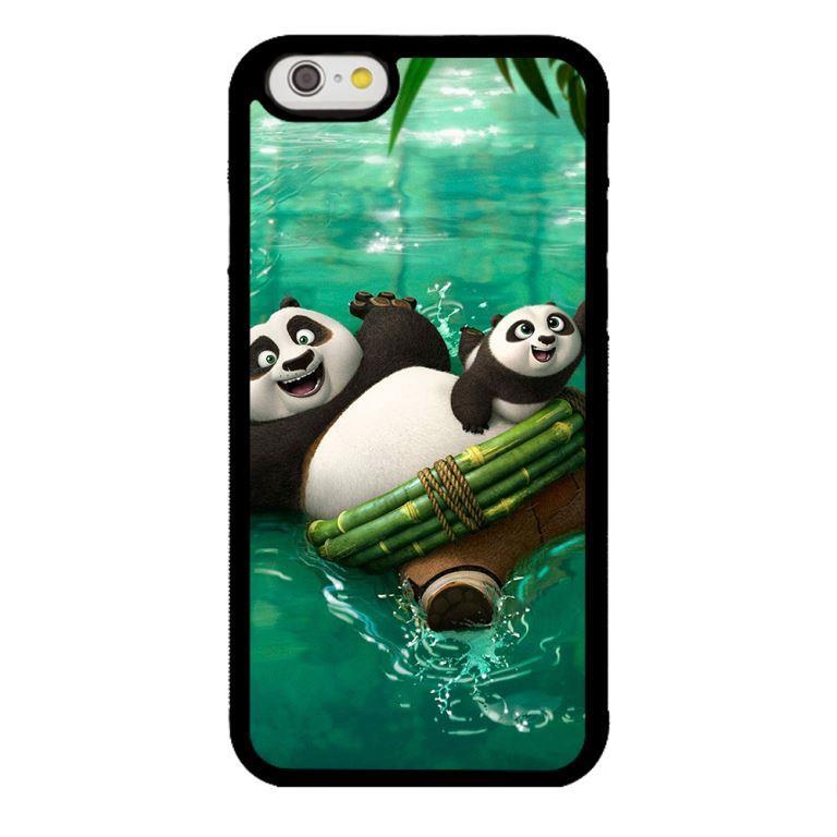 Ốp lưng dành cho điện thoại Iphone 6s PANDA Bơi