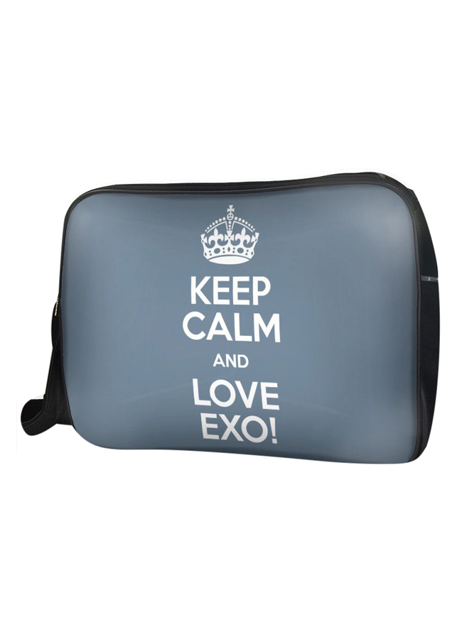 Túi Đeo Chéo Hộp Unisex Keep Calm And Love Exo - TCKK071