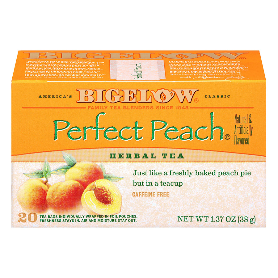 Hộp 20 Túi Trà Thảo Mộc Bigelow Perfect Peach Herbal Tea (38g) - 915087 , 72310888487 , 62_1751471 , 126000 , Hop-20-Tui-Tra-Thao-Moc-Bigelow-Perfect-Peach-Herbal-Tea-38g-62_1751471 , tiki.vn , Hộp 20 Túi Trà Thảo Mộc Bigelow Perfect Peach Herbal Tea (38g)