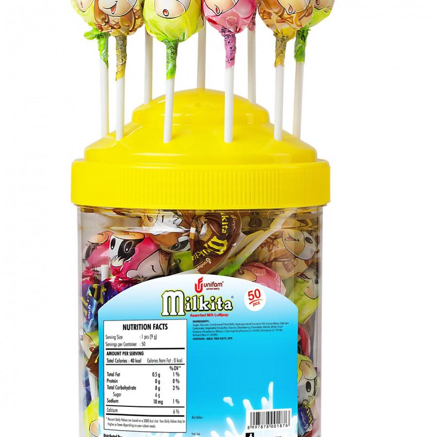 Kẹo hũ Milkita hỗn hợp vị Dâu, Chocolate, Dưa Gang (Hũ 50 que) - 800295 , 2669238036236 , 62_13687472 , 100000 , Keo-hu-Milkita-hon-hop-vi-Dau-Chocolate-Dua-Gang-Hu-50-que-62_13687472 , tiki.vn , Kẹo hũ Milkita hỗn hợp vị Dâu, Chocolate, Dưa Gang (Hũ 50 que)