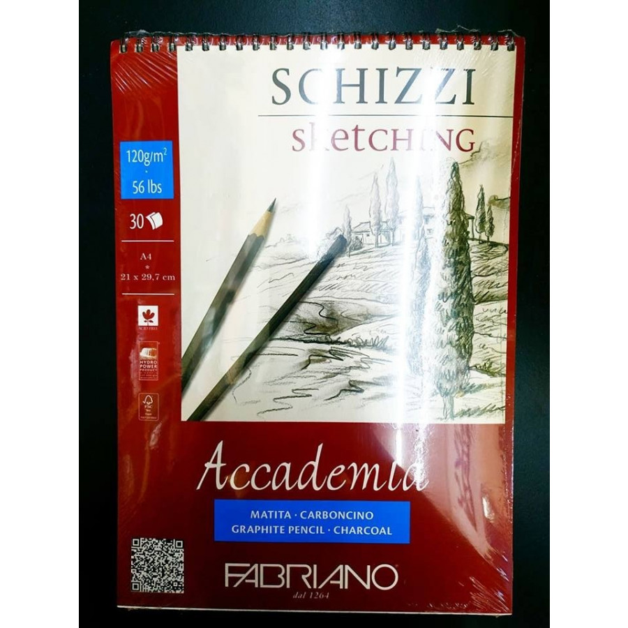 Sổ vẽ Fabriano a4 lò xo 120gsm
