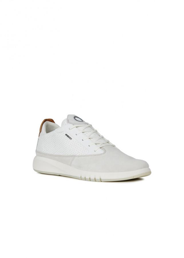 Giày Sneakers Nam GEOX U AERANTIS A PAPYRUS/WHITE