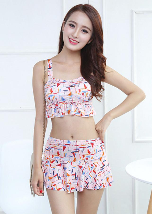 Áo tắm 3 mảnh theo phong cách Hàn Quốc