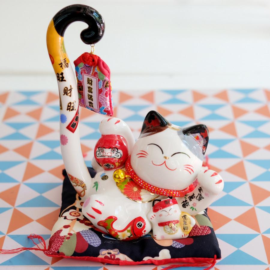 """Mèo Thần tài Đuôi dài """"Phú Quý Hữu Dư"""" 23cm - 1829182 , 7408192105061 , 62_13580166 , 670000 , Meo-Than-tai-Duoi-dai-Phu-Quy-Huu-Du-23cm-62_13580166 , tiki.vn , Mèo Thần tài Đuôi dài """"Phú Quý Hữu Dư"""" 23cm"""