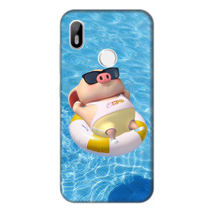 Ốp lưng điện thoại Vsmart Joy 1 hình Heo Con Tắm Biển - Hàng chính hãng