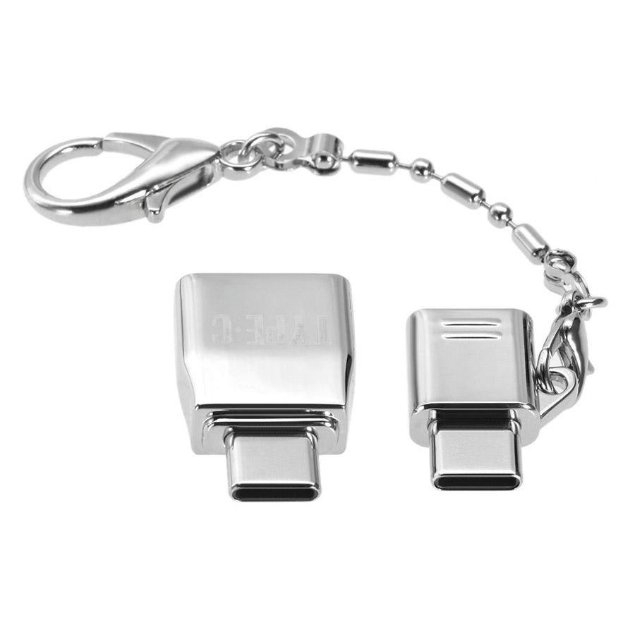 Bộ Chuyển Đổi USB Kim Loại Có Vòng Chống Mất