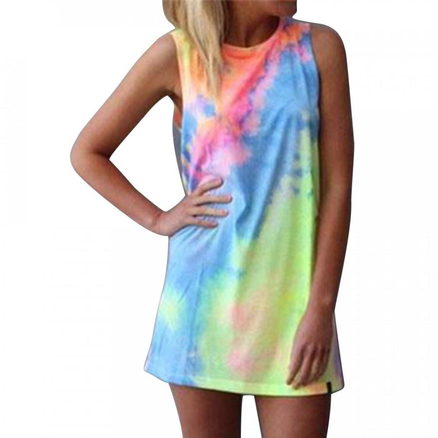 New Women Summer Sleeveless Party Evening Casual Mini Dress Beach Sundress