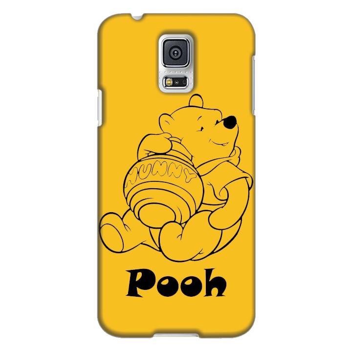 Ốp lưng nhựa cứng nhám dành cho Samsung Galaxy S5 in hình Pooh