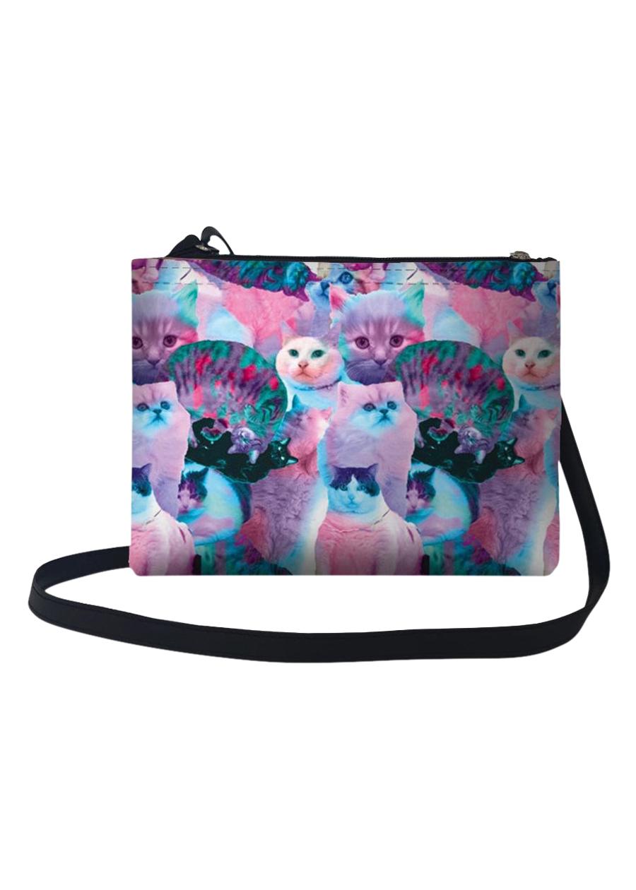 Túi Đeo Chéo Nữ In Hình Mèo Dạ Quang TUHT070