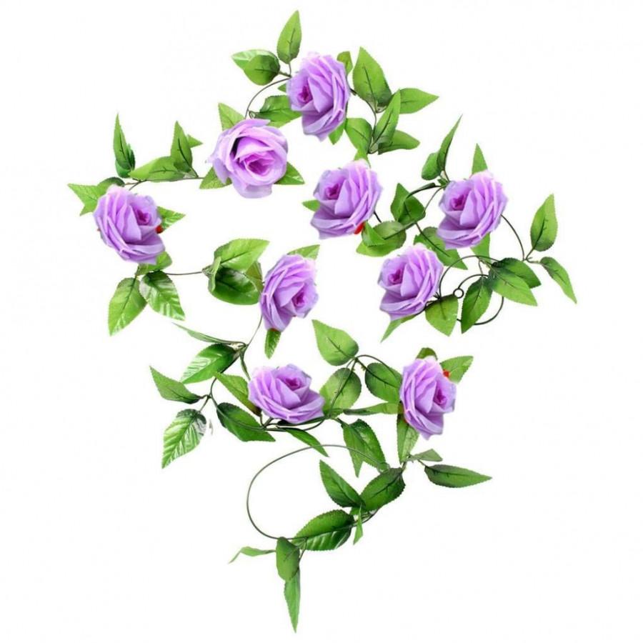 Chùm hoa hồng dây leo 9 bông dài 2m4 trang trí nội thất cao cấp - Dây hoa lá giả - 7309776 , 9780036130551 , 62_16624068 , 125000 , Chum-hoa-hong-day-leo-9-bong-dai-2m4-trang-tri-noi-that-cao-cap-Day-hoa-la-gia-62_16624068 , tiki.vn , Chùm hoa hồng dây leo 9 bông dài 2m4 trang trí nội thất cao cấp - Dây hoa lá giả