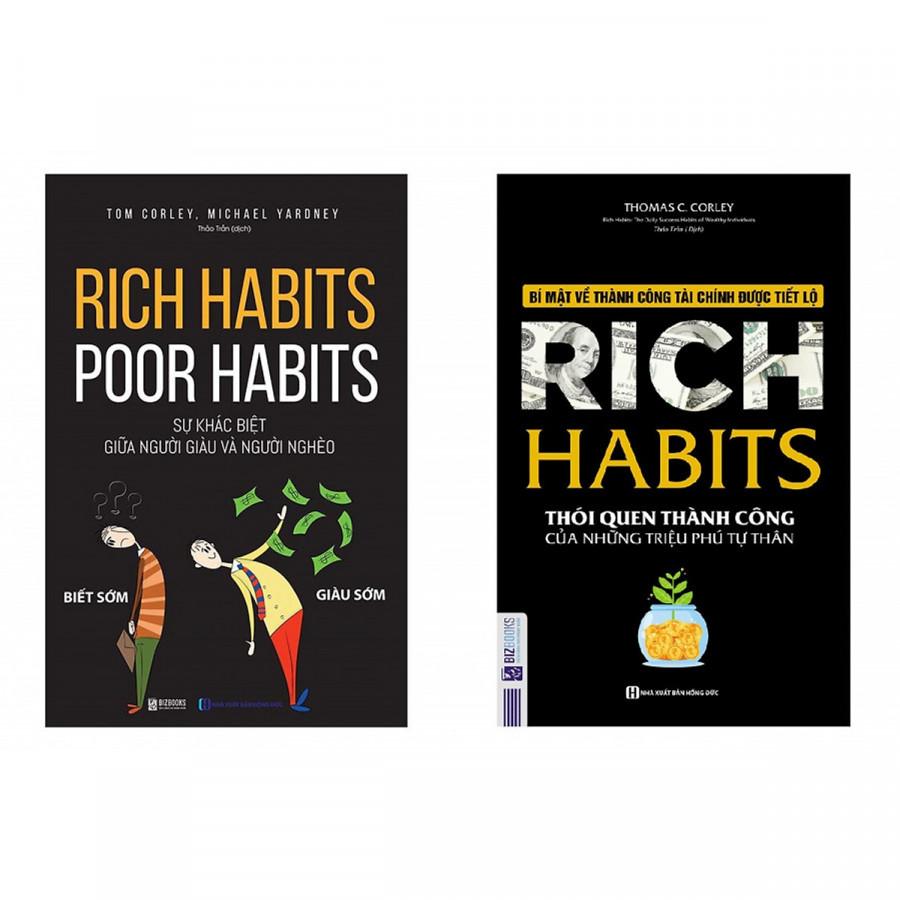 """Bộ Sách Bí Mật Của Sự Thành Công ( """"Rich Habits - Thói Quen Thành Công Của Những Triệu Phú Tự Thân"""" + """"Rich Habits -..."""