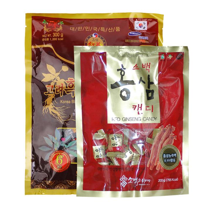 Combo kẹo Hồng sâm và kẹo Hắc sâm Hàn Quốc - 1301978 , 6552530547424 , 62_8499467 , 280000 , Combo-keo-Hong-sam-va-keo-Hac-sam-Han-Quoc-62_8499467 , tiki.vn , Combo kẹo Hồng sâm và kẹo Hắc sâm Hàn Quốc