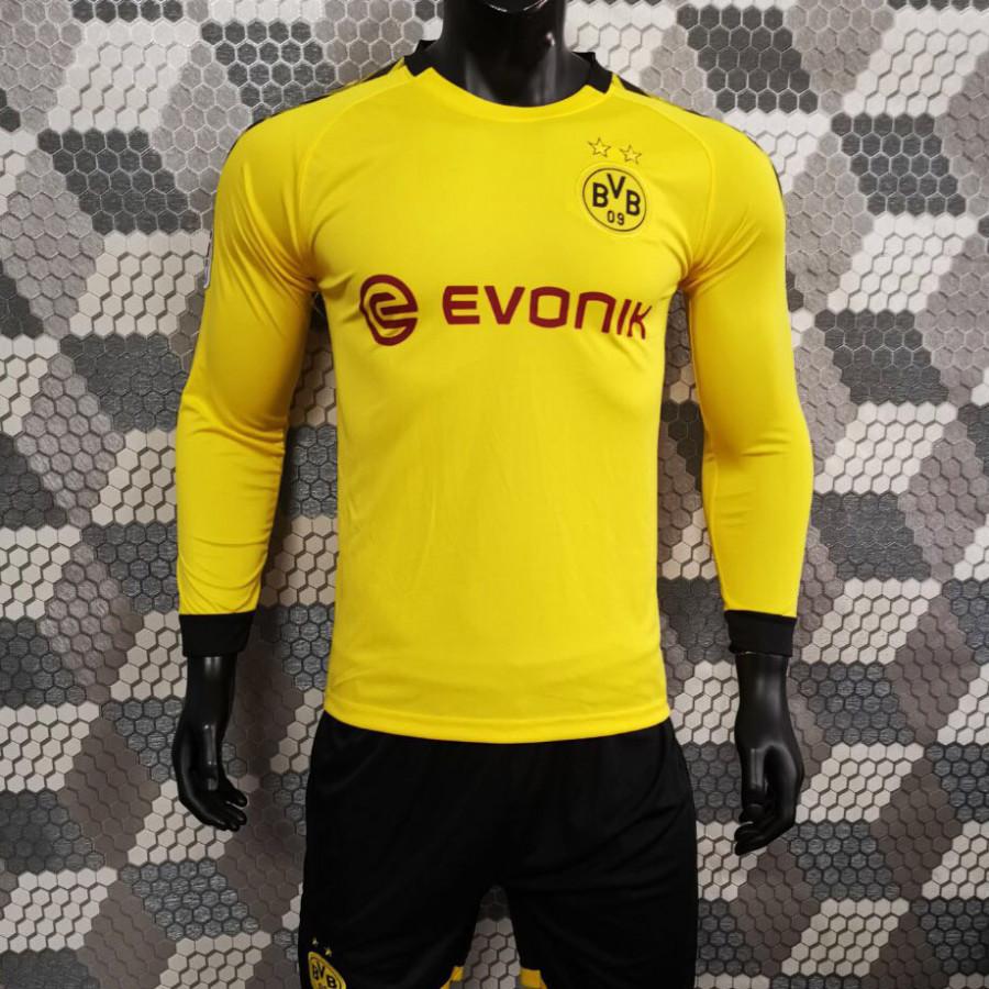 Bộ Quần Áo Bóng Đá Tay Dài CLB Dortmund Vàng - Đồ Đá Banh Mới Nhất 19-20