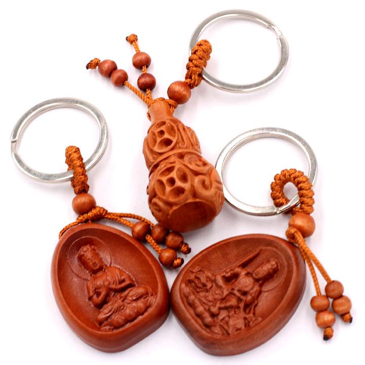 Combo 3 móc khóa Phật Đại Nhật Như Lai - Văn Thù bồ tát - Hồ Lô - bình an, may mắn