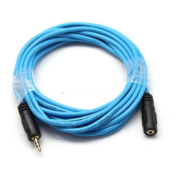 Cáp Audio 3.5mm nối dài 5m Dtech DT-6217 - Hàng Chính Hãng