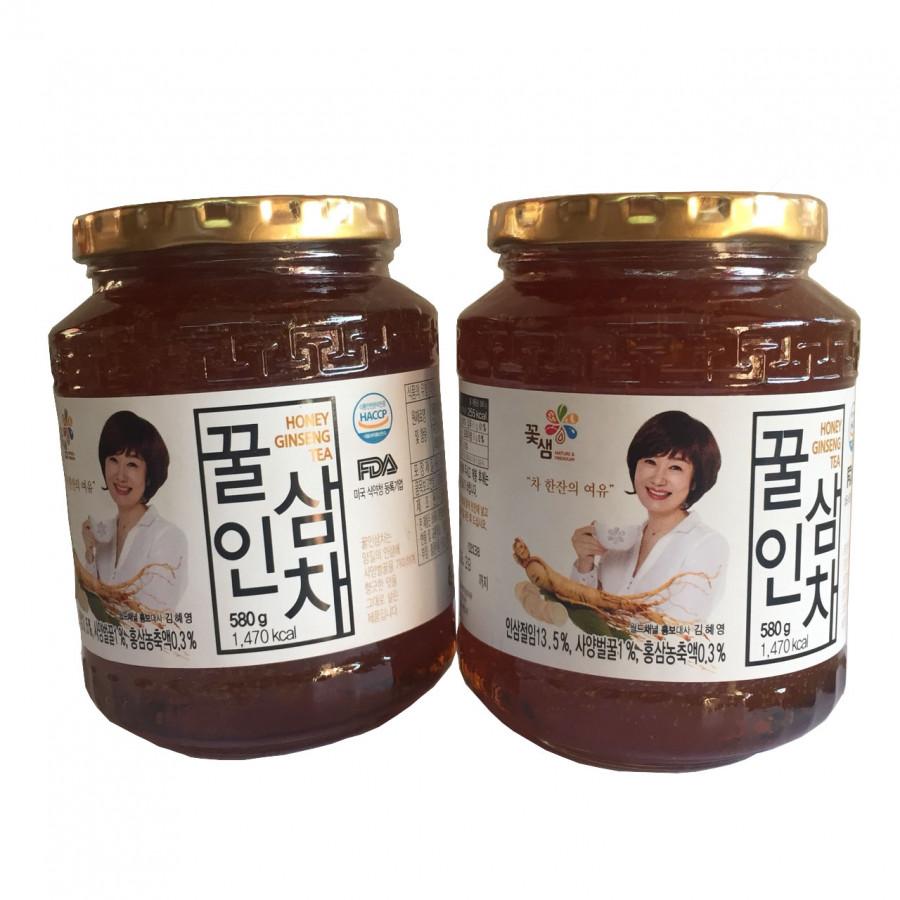 Combo 2 lọ nhân sâm tươi ngâm mật ong Kkoh Shaem Hàn Quốc  580g