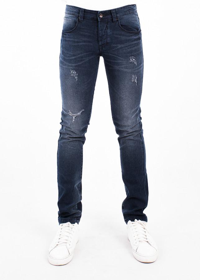 Quần Jeans Nam Skinny A91 JEANS 201 MSKBS201DK (Xanh đậm)