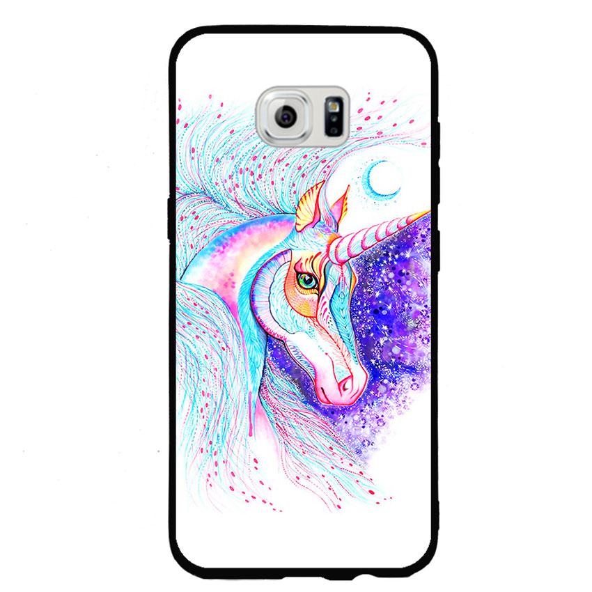 Ốp lưng nhựa cứng viền dẻo TPU cho điện thoại Samsung Galaxy S6 Edge - Horse 01