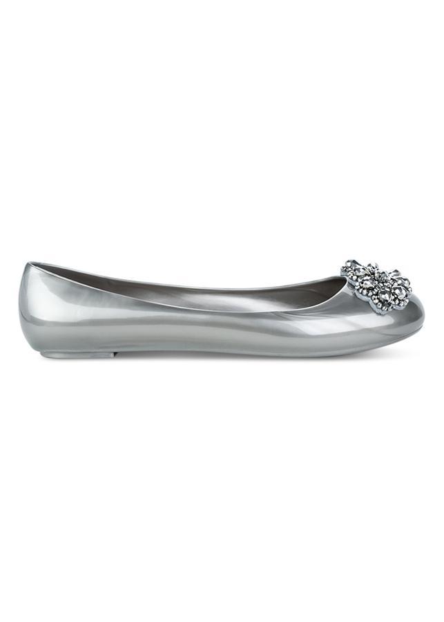 Giày Búp Bê Nữ Holster Embellish Ballet - Pewter
