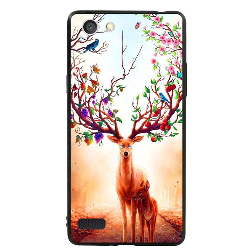 Ốp Lưng Viền TPU cho điện thoại Oppo Neo 7 -Deer 01