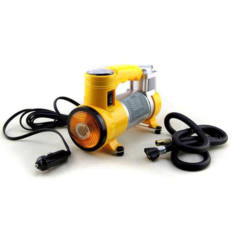 Bơm lốp xe oto, xe hơi, công suất cao kèm đèn led chiếu sáng.