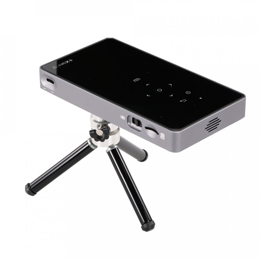 P8 Projector Portable Mini DLP Smart Phone Wired Projector Home Theater Support USB Flash Drive TF Card WIFI 1080P