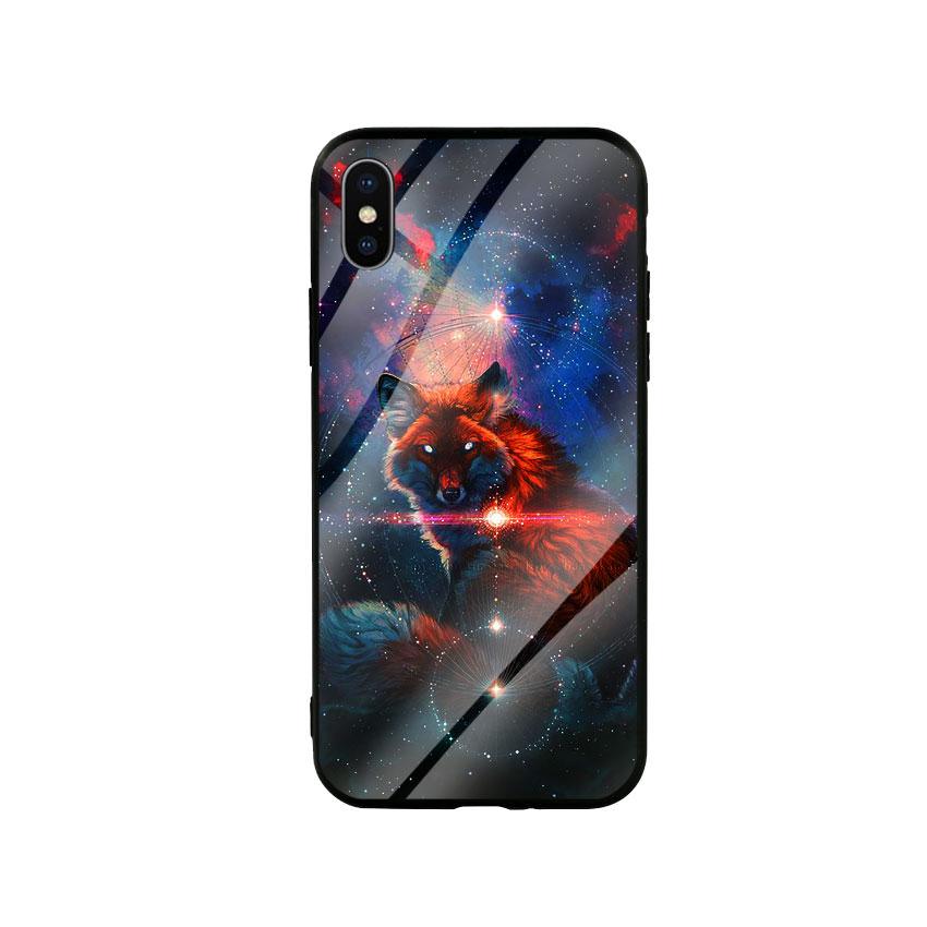 Ốp Lưng Kính Cường Lực cho điện thoại Iphone X / Xs - Fox 05