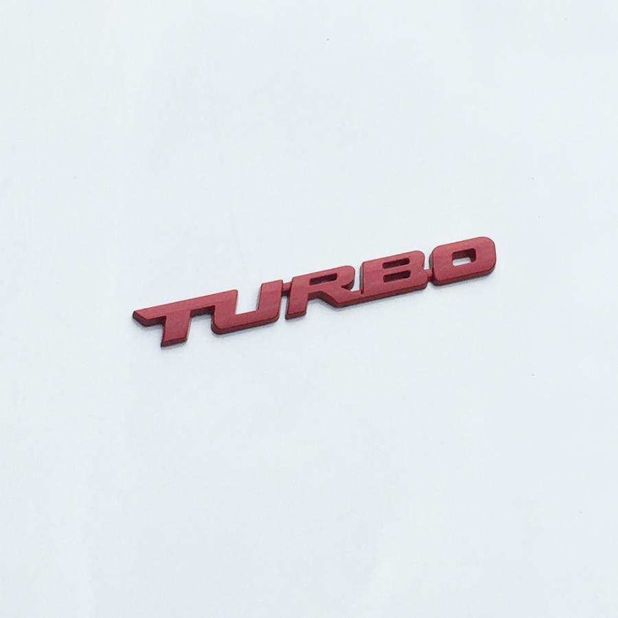 Chữ TURBO kim loại trang trí xe