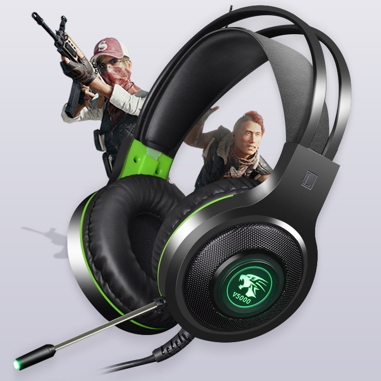Tai nghe Game thủ V5000 chụp tai gaming hổ trợ Rung cảm ứng cho phòng nét