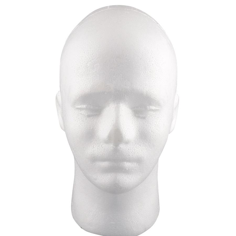 Mô Hình Xốp Đầu Người Nam Làm Tóc Giả 54cm