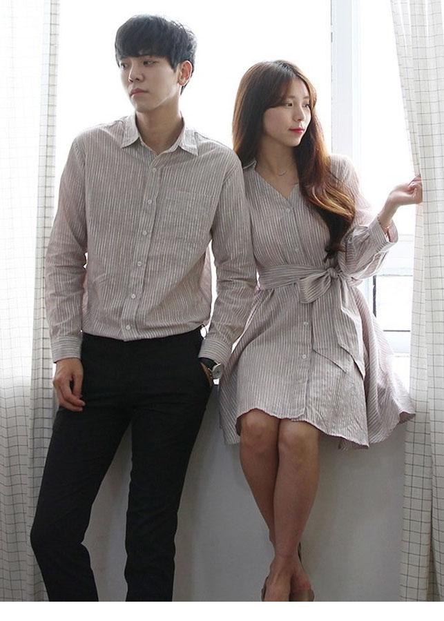 Bộ áo váy sơ mi cặp HOT 2019 - AV176