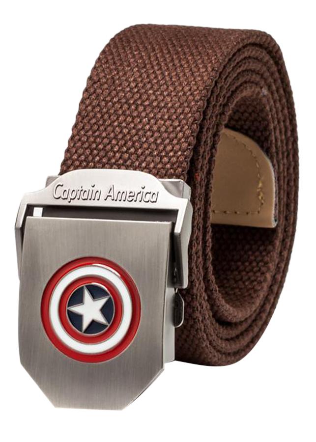 Thắt Lưng Vải Dù Nữ Mặt Khoá Hợp Kim Mặt Captain America - Màu 5