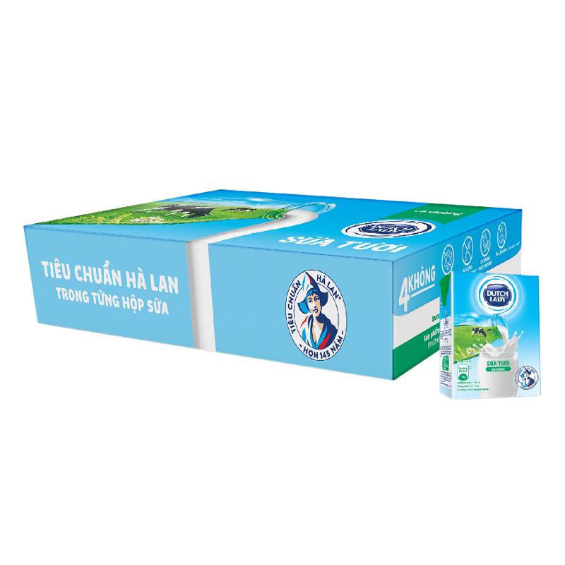 Thùng 48 Hộp Sữa Tươi Tiệt Trùng Dutch Lady Có Đường (110ml / Hộp)