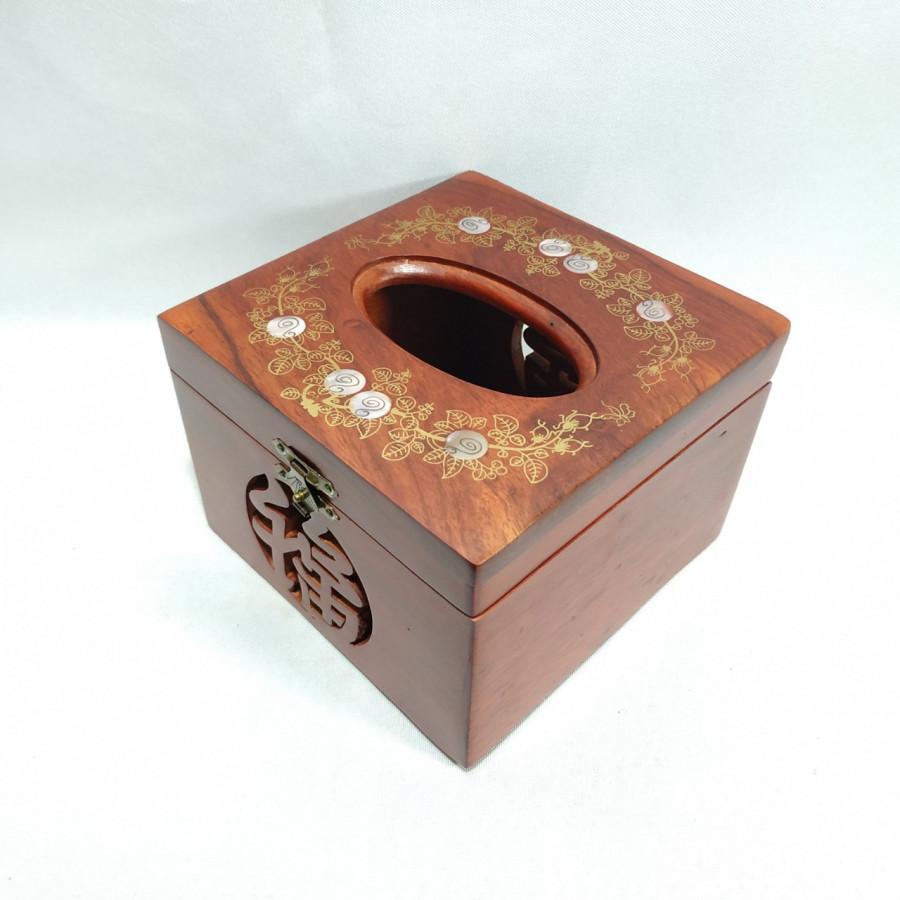 Hộp khăn giấy gỗ hương vuông elai khảm trai hoa văn phong thủy - 1468420 , 5834618788099 , 62_14496215 , 260000 , Hop-khan-giay-go-huong-vuong-elai-kham-trai-hoa-van-phong-thuy-62_14496215 , tiki.vn , Hộp khăn giấy gỗ hương vuông elai khảm trai hoa văn phong thủy